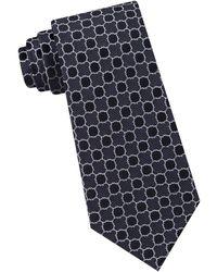 Calvin Klein - Quatrefoil Medallion Slim Silk Tie - Lyst