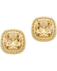 Swarovski - Goldplated Lattitude Stud Pierced Earrings - Lyst