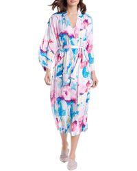 N Natori - Pastel Blossom 2-piece Floral-print Robe - Lyst