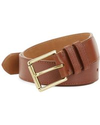 Cole Haan - Pebbled Leather Belt - Lyst