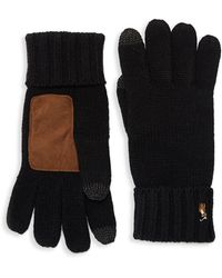 Polo Ralph Lauren - Signature Merino Touch Gloves (fawn Grey Heather) Over-mits Gloves - Lyst