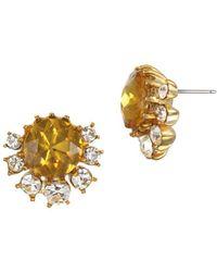 Badgley Mischka - Crystal Stud Earrings - Lyst