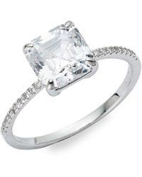 Michela - Crystal Beveled Ring - Lyst