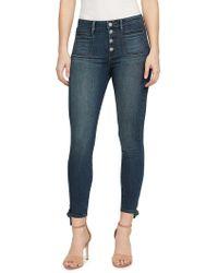 William Rast - Side Tie Cropped Jeans - Lyst