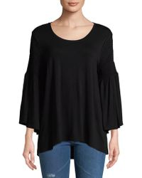 Isaac Mizrahi New York - Bell-sleeve Top - Lyst