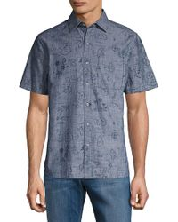 Tommy Bahama - Island Printed Short Sleeve Button Front Shirt - Lyst
