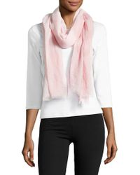 Lord & Taylor - Classic Frayed Scarf - Lyst