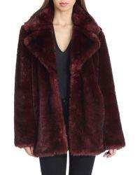 Avec Les Filles - Oversized Faux Fur Coat - Lyst
