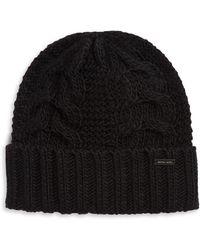 Logo Cotton Cap. £35. Michael Kors · Michael Kors - Cable-knit Beanie - Lyst f8c594d202ff