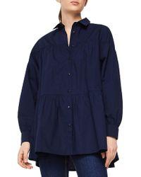 Mango - Odette Oversized Cotton Button-down Shirt - Lyst