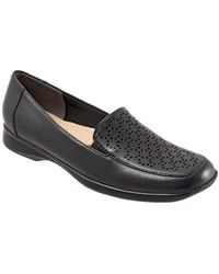 Trotters - Jenn Laser Leather Loafers - Lyst