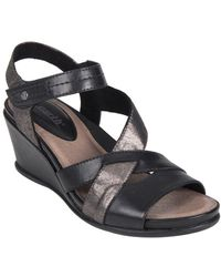 abceae50dd9 Earth - Thistle Leather Ankle-strap Wedge Sandals - Lyst