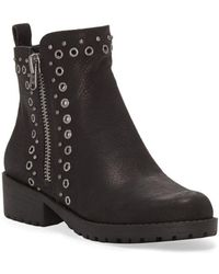 Lucky Brand - Hannie Leather Booties - Lyst