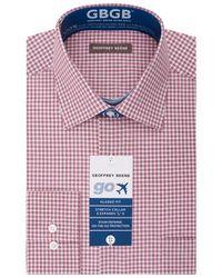 Geoffrey Beene - Gingham Print Dress Shirt - Lyst