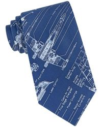 Star Wars - X-wing Fighter Blue Print Tie - Lyst