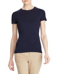 Lauren by Ralph Lauren - Charissa Short-sleeved Crewneck T-shirt - Lyst