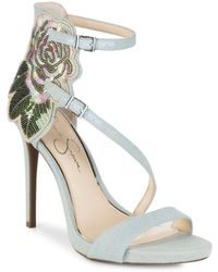 Jessica Simpson - Reesa Suede Ankle Strap Sandals - Lyst