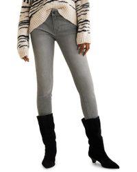 Mango Kim Skinny Push-up Jeans - Gray