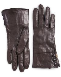 Lord & Taylor - Rabbit Fur Lined Cuff Leather Gloves - Lyst
