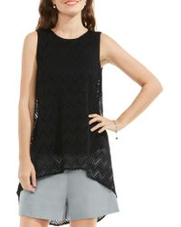 Vince Camuto - Herringbone Lace Blouse - Lyst