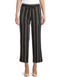 Jones New York - Drawstring Capri Trousers - Lyst