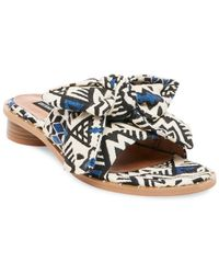 Lord & Taylor - Rio Fabric Slide Sandals - Lyst