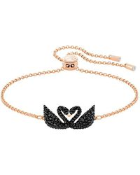 Swarovski - Iconic Crystal Swan Bracelet - Lyst