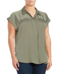 Vince Camuto - Plus Short-sleeve Hi-lo Top - Lyst