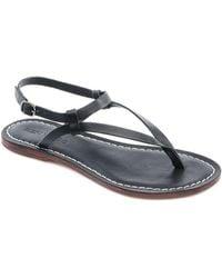 Bernardo   Merit Metallic Suede Thong Sandals   Lyst