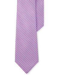 Lauren by Ralph Lauren | Striped Silk-blend Tie | Lyst