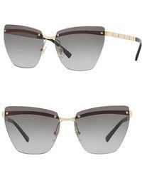 Versace - 58mm Irregular Rimless Sunglasses - Lyst