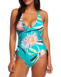 a7c7b4cd66871 Kenneth Cole Animal Print One-piece Swimsuit in Blue - Lyst