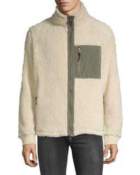 Surfside Supply - Fuzzy Sherpa Zip Jacket - Lyst
