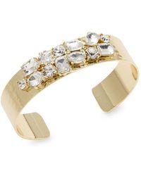 Lord & Taylor - Crystal Open Cuff Bracelet - Lyst