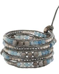 Chan Luu - Multi-stone & Sterling Silver Wrap Bracelet - Lyst