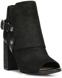 Fergie | Roland Peep-toe Western Style Suede Booties | Lyst