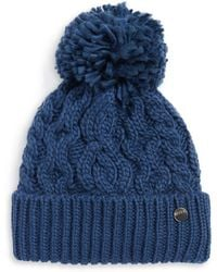 Rella | High-rise Pom-pom Cable Knit Beanie | Lyst
