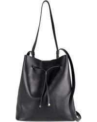 Lodis - Halina Rfid Large Leather Drawstring Bucket Bag - Lyst