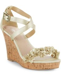 Charles David - Lauryn Satin Wedge Sandals - Lyst