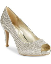 Bandolino - Rainaa Metallic Peep Toe Court Shoes - Lyst