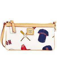 Dooney & Bourke - Boston Red Sox Coated Cotton Large Slim Wristlet - Lyst