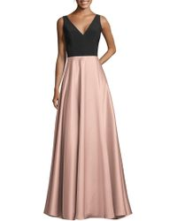 bb8857d44a9a Xscape Satin-trim Lace Halter Gown in Pink - Lyst