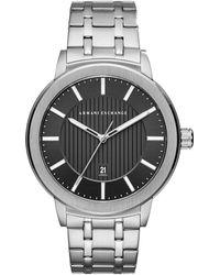 Armani Exchange - Stainless Steel Textured Bracelet Watch - Lyst