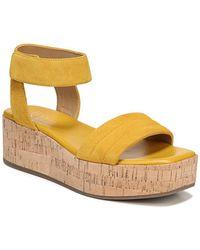 Franco Sarto - Ioli Suede Platform Sandals - Lyst