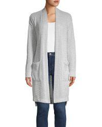 Jones New York - Striped Long Knit Cardigan - Lyst