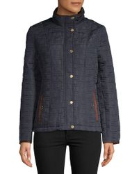 Weatherproof - Quilted Mockneck Faux Fur Lined Jacket - Lyst