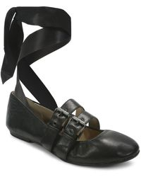 Luxury Rebel - Sari Lace-up Nappa Leather Ballet Flats - Lyst