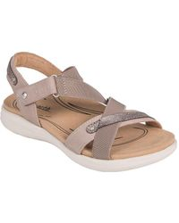Earth - Bali Leather Ankle-strap Sandals - Lyst