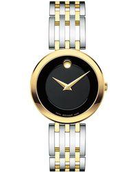 Movado - Esperanza Stainless Steel & Goldtone Watch - Lyst
