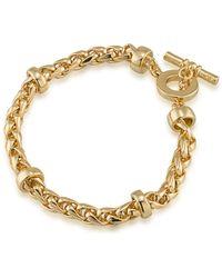 Lauren by Ralph Lauren 12k Goldplated Braided Bracelet - Metallic